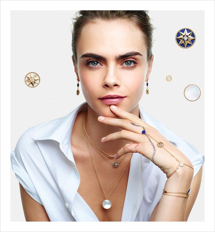 Cara Delevingne Models Christian Dior Joaillerie 2020 Collection