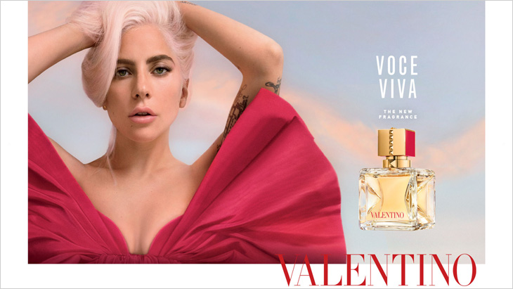Lady Gaga is the Face of Valentino Voce Viva Fragrance