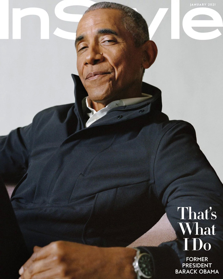 Barack Obama Stars on the Cover of InStyle Magazine January 2021 Issue
