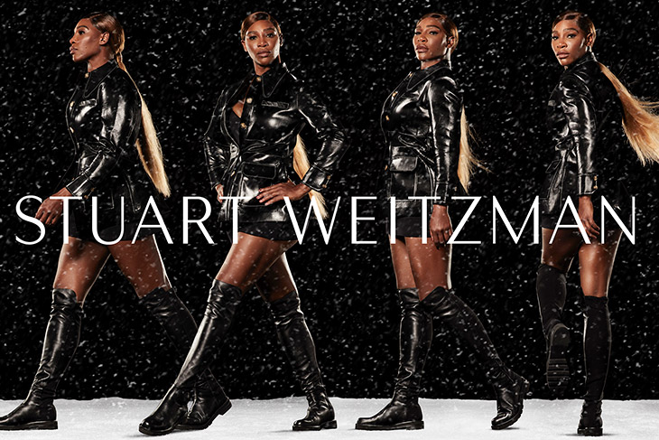Serena Williams Models Stuart Weitzman Winter 2020 Collection
